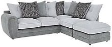 Mosaic Fabric Right-Hand Single Arm Chaise Sofa