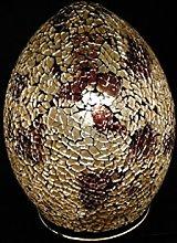 Mosaic Lamp, Glass, Gold Amber, Small