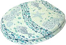 Mosaic World Green Soft Close Elongated Toilet