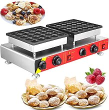 MosaicAL 50pcs Waffle Pancake Maker Poffertje Mini