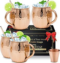 Moscow Mule Copper Mugs [Gift Set] - Set of 4