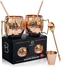Moscow Mule Copper Mugs - Set of 2 - 100%