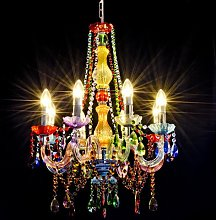 Moseley 8-Light Candle-Style Chandelier Happy Larry