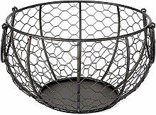Moseng Wire Egg Basket,Metal Egg Storage Basket