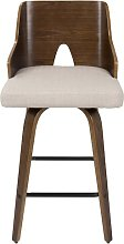 Moses Fixed Height Counter 66cm Swivel Bar Stool