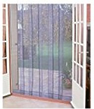 Mosquito Door Curtain with 4 Strips 100 x 220 cm