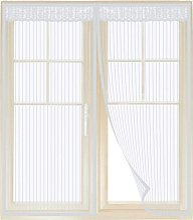 Mosquito net white magnetic window of 130 * 150cm