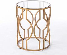Moter small gold coffee side table and living room