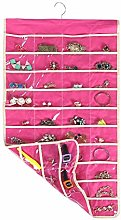 MotGlobal Hanging Jewellery Organiser 80 Pockets