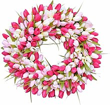 Mother's Day Simulation Tulip Bud Wreath,