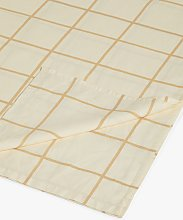 Mother of Pearl Check Linen & Organic Cotton Flat