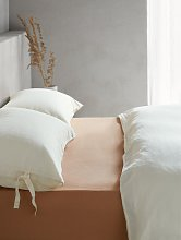 Mother of Pearl Linen & Organic Cotton Fitted Sheet