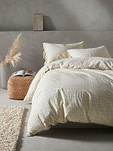Mother of Pearl Plaid Linen & Organic Cotton Duvet