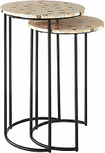 Mother of Pearl Side Tables Living Room Small