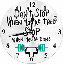 Motivational Quote Clock Don't Stop When