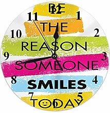 Motivational Quote Clock Word Be The Reason