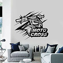 Motocross Wall Decal Motorcycle Speed