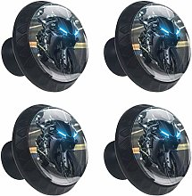 Motorbike 4 Pieces Scratch Proof Crystal Glass