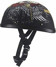 Motorcycle Half Helmet, DOT/ECE Approved Open Face