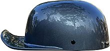 Motorcycle Half Helmet Skull Cap, Light Baseball