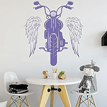 Motorcycle Vinyl Wall Sticker Wings Riding