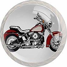 Motorcycle White Crystal Drawer Handles Furniture