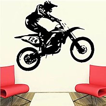 Motorcyclist Wall Sticker Motorcycle Vinyl Decal