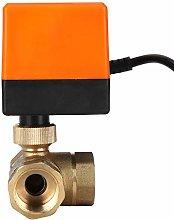 Motorized Ball Valve L Shape Orange Brass Electric