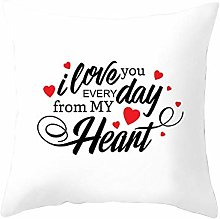 Motto Love Printed Decorative Polyester Pillow