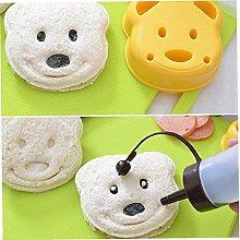 Mould, 1pcs Little Bear Shape Cake Molds Sandwich