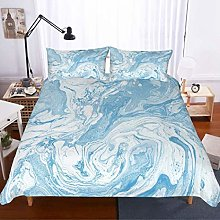 MOUMOUHOME 2 Piece Liquid Marble Bedding Set White