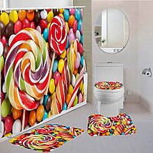 MOUMOUHOME Candy Shower Curtain Bathroom Sets
