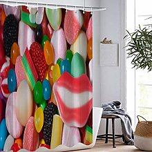MOUMOUHOME Colorful Various Sweets Curtains 3D