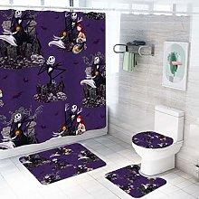 MOUMOUHOME Dark Purple Shower Curtain Bathroom Set