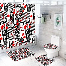 MOUMOUHOME Girls Women Bathroom 4 Pieces 3D Betty