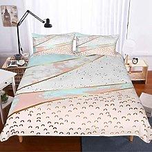 MOUMOUHOME Marble Duvet Cover Set Double Size 3D