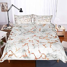 MOUMOUHOME Marbling Bedding Set Double Microfiber