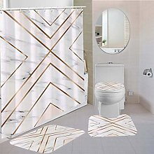 MOUMOUHOME Marbling Polyester Shower Curtain