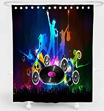 MOUMOUHOME Music Art Shower Curtain with Fantasy