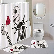 MOUMOUHOME Polyester Shower Curtain Flannel Rugs