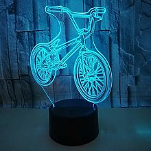 Mountain Bike 3D Night Light Led Decoration Table
