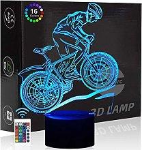 Mountain Bike Bicycle 3D Illusion Night Light