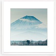 Mountain Mist Framed Print & Mount, 73 x 73cm, Blue