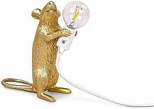 Mouse Table Lamp Creative Resin Desk Light Bedside