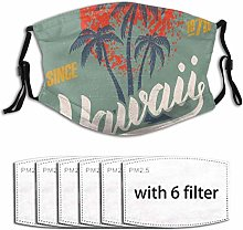 Mouth Face Cover Surfing Water Sport Palm Tree