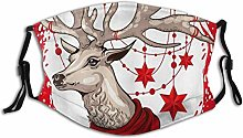 Mouth Face Protective Animal Christmas Brown Moose