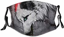 Mouth Guard Face Guard A Wolf Holding A Clock In