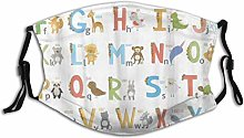 Mouth Mask With Filter Alphabet English Letter And