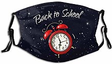 Mouth Scarf Alarm Clock Ringing Back To School