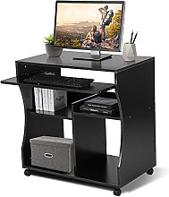 Movable Computer Office Desk with Sliding Keyboard